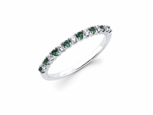 21ee14a42 Diamond and Created Emerald Ring OA13A68 | Rings from Johnny's Lakeshore  Jewelry | South Haven, MI